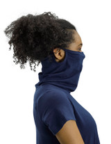 Perfect Protect Short Sleeve Mask Tee, Dark Navy