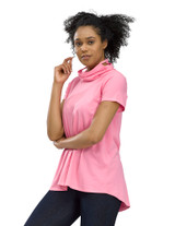 Perfect Protect Short Sleeve Mask Tee, Pink