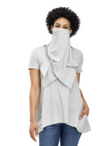 Perfect Protect Short Sleeve Scarf Tee, Light Grey Heather