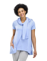 Perfect Protect Short Sleeve Scarf Tee, Grape Mist