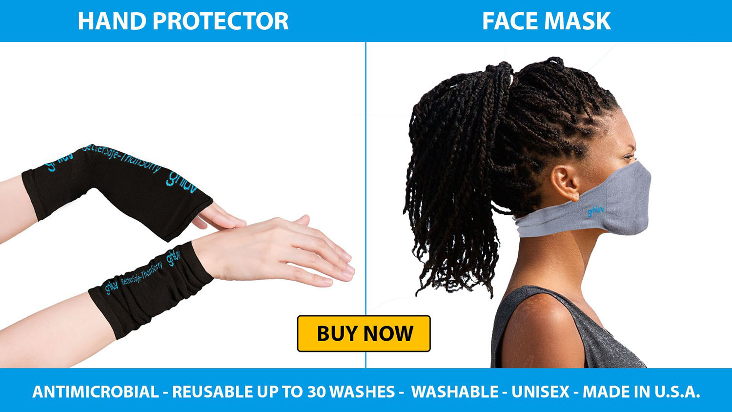 Ghluv Hand Protector and Facemask