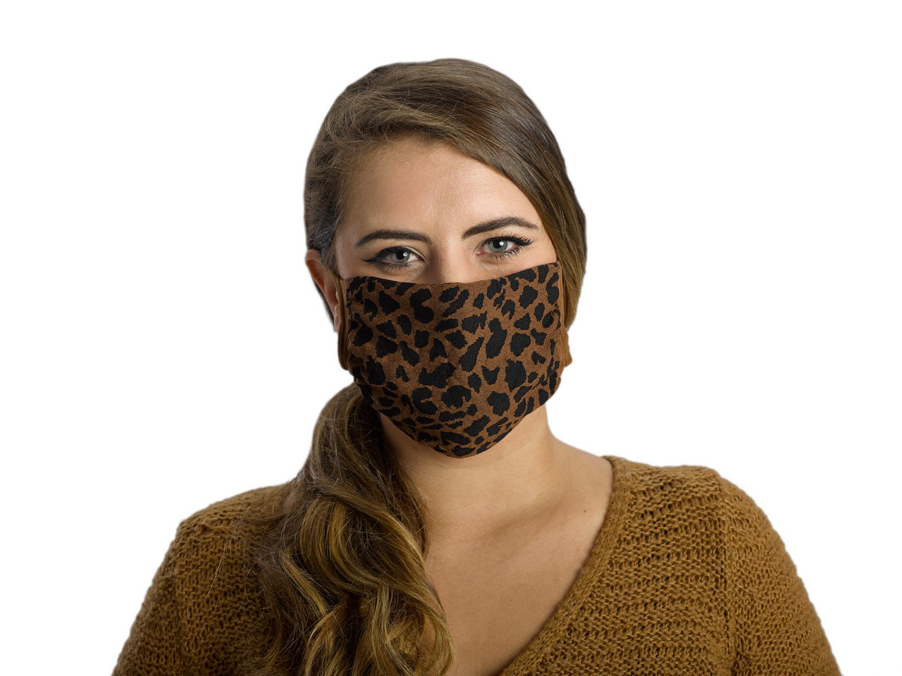 Antimicrobial Unisex Face Mask (2-pack), Filter Pocket, Animal Brown