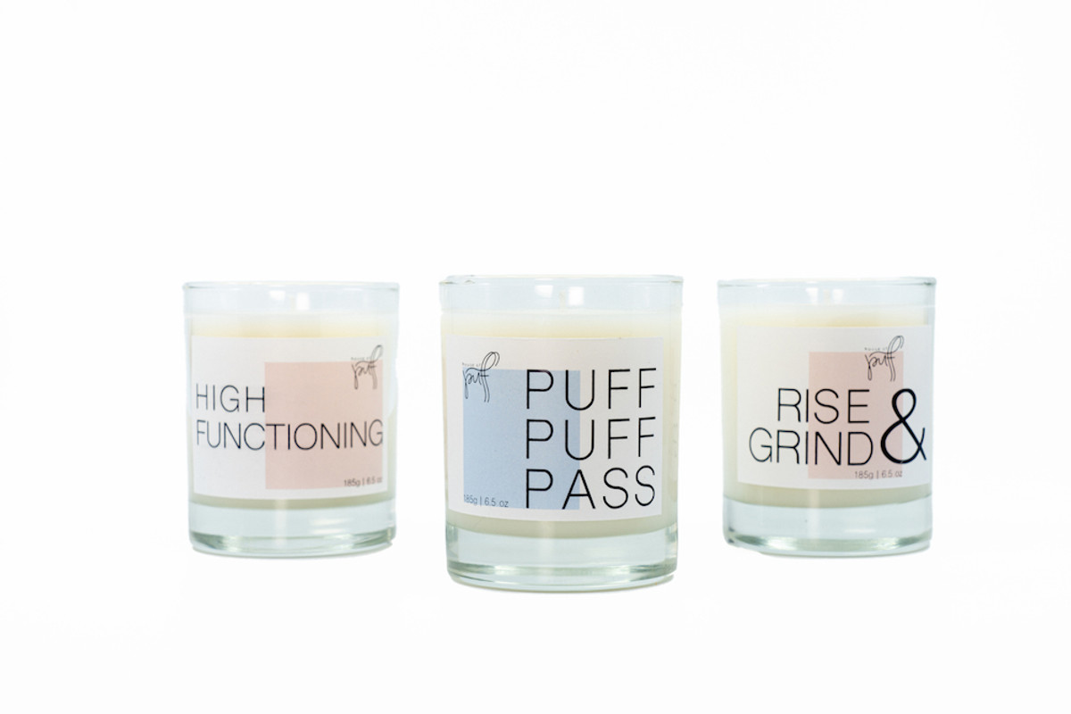 Set the mood with our High Tide hand poured candle created exclusively for House of Puff x Joya Studio.