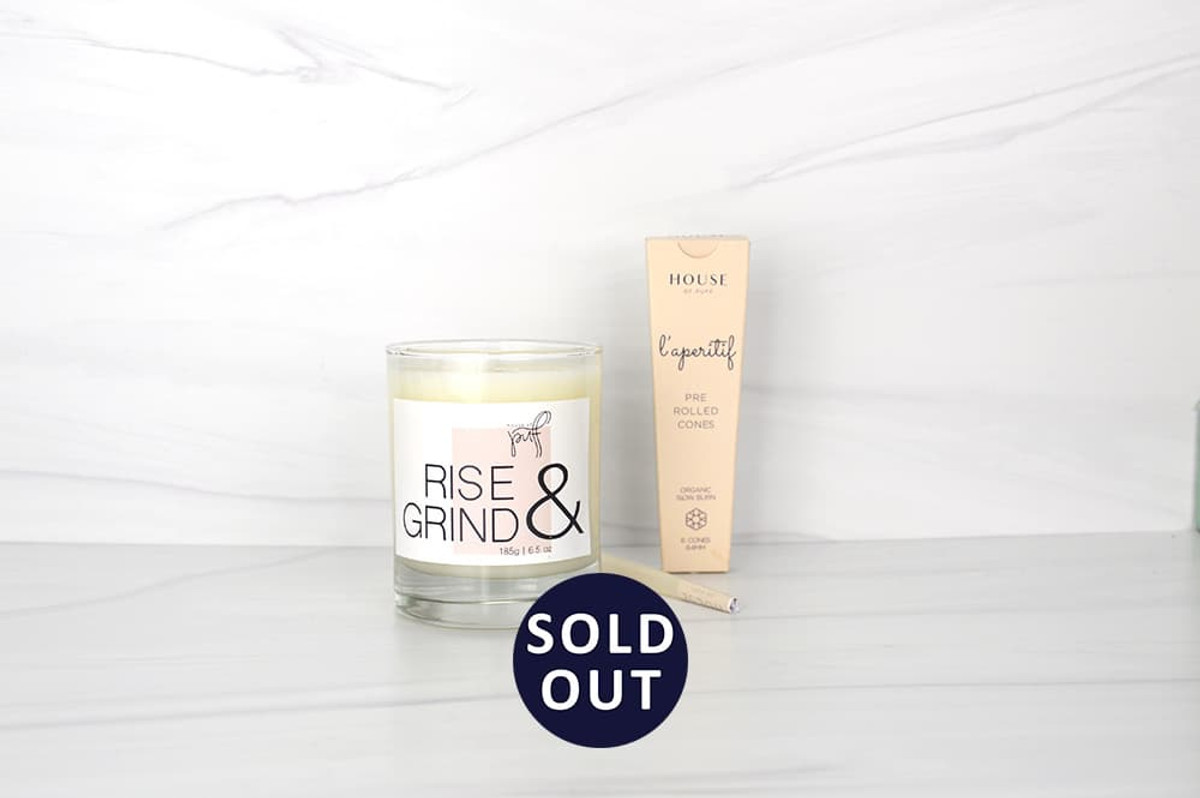 Cozy up with our luxe gifts for smokers. Set a relaxing mood with the scent of our High Tide candle and complete your calm with a puff on our L'aperitif Pre Rolled Cones.