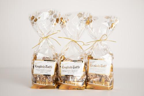 1/2 lb. Dark Chocolate Toffee - Holiday Gift Bag