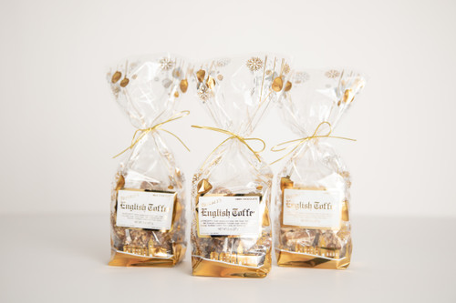 1/2 lb. White Satin Toffee - Holiday Gift Bag