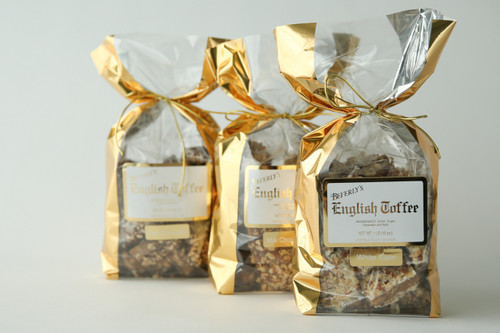1 lb. Dark Chocolate Toffee - Gold Bag