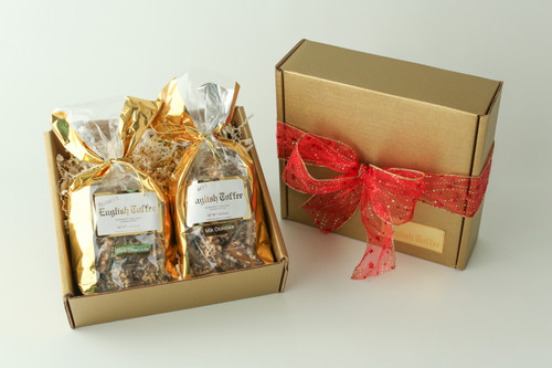 2 lb. Gift Box - Milk Chocolate & White Toffee