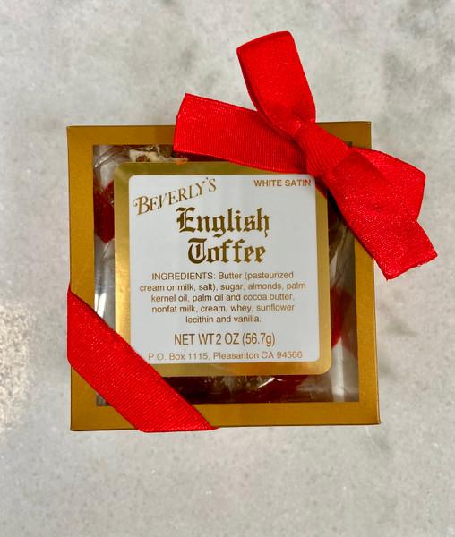 Party Favor - White Satin Gold Box (2 oz)