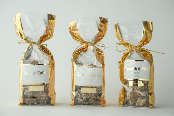 1/2 lb. Dark Chocolate Toffee - Gold Bag