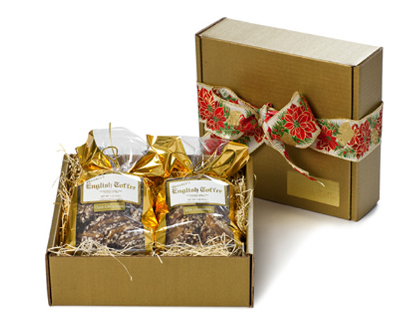 2 lb. Gift Box - Milk Chocolate & White Toffee