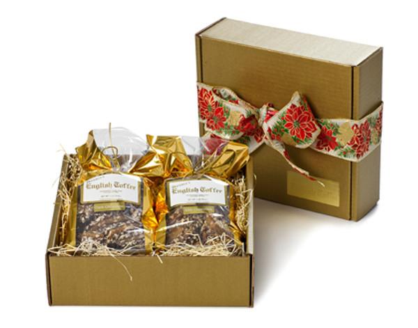 2 lb. Gift Box - Dark Chocolate & White Toffee