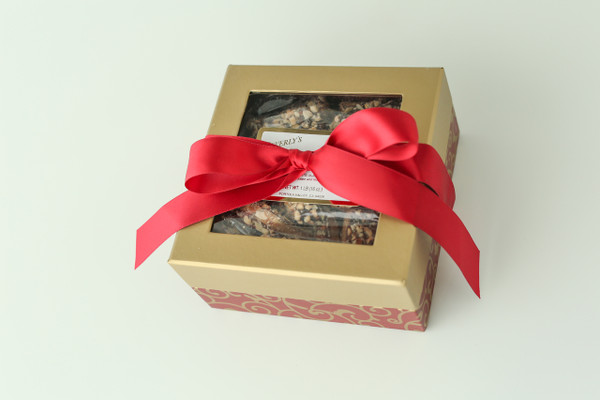 One pound Gift Box - Dark Chocolate Toffee