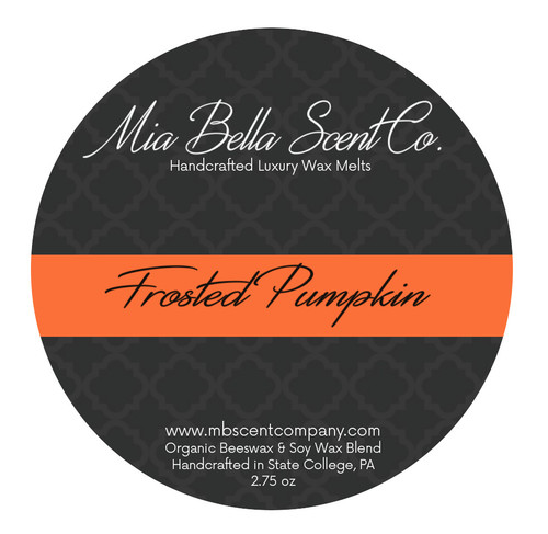 Mia Bella Scent Co Frosted Pumpkin Wax Melts