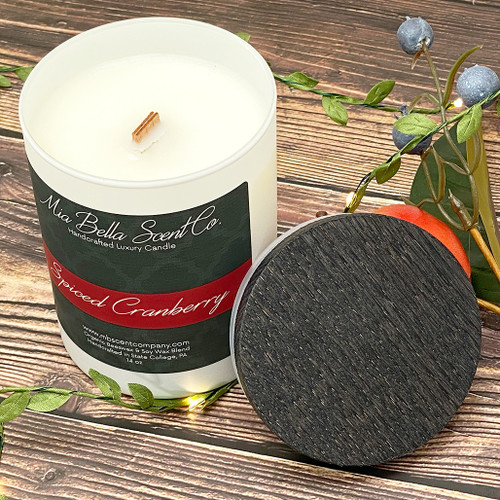 Mia Bella Scent Co Spiced Cranberry 14oz Dual Wood Wick Candle