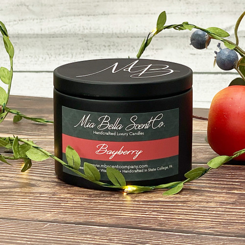 Mia Bella Scent Co Bayberry 8oz Dual Wood Wick Candle