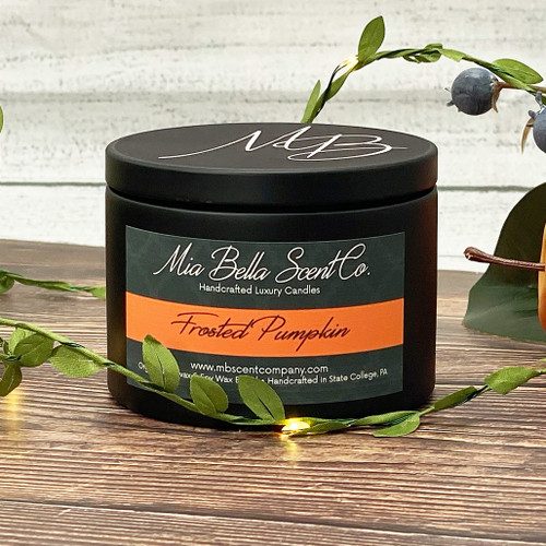 Mia Bella Scent Co Frosted Pumpkin 8oz Dual Wood Wick Candle