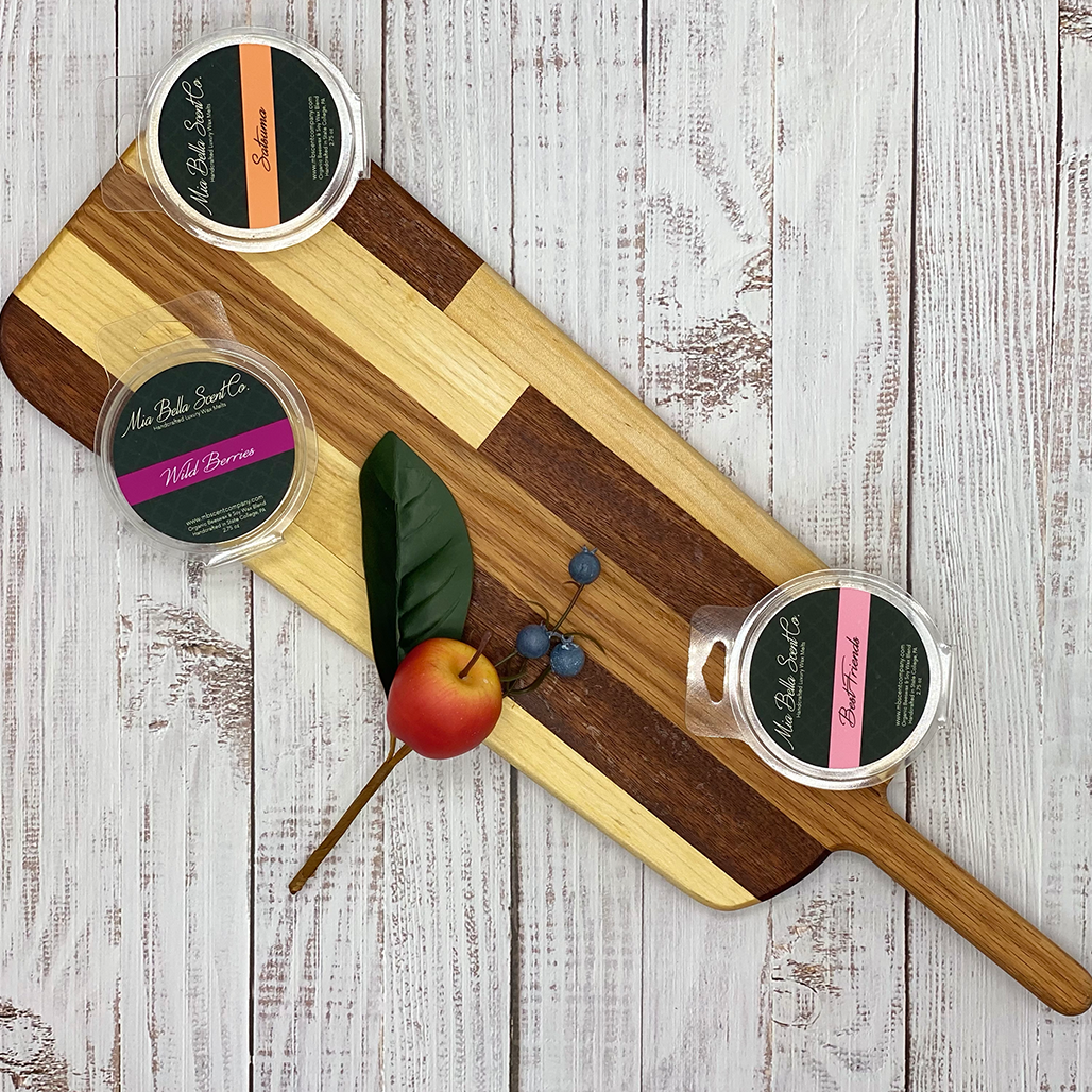 Shop Mia Bella Scent Company cutting boards for the highest quality maple and oak cutting boards!