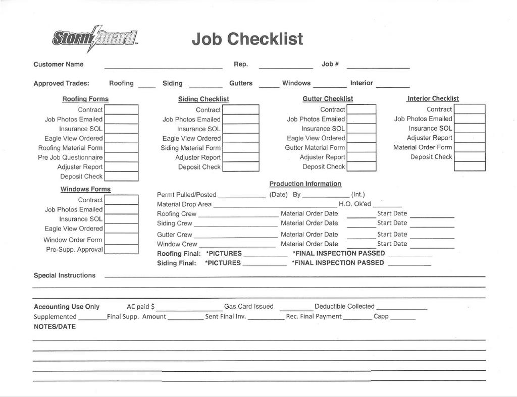 Job File Sticker