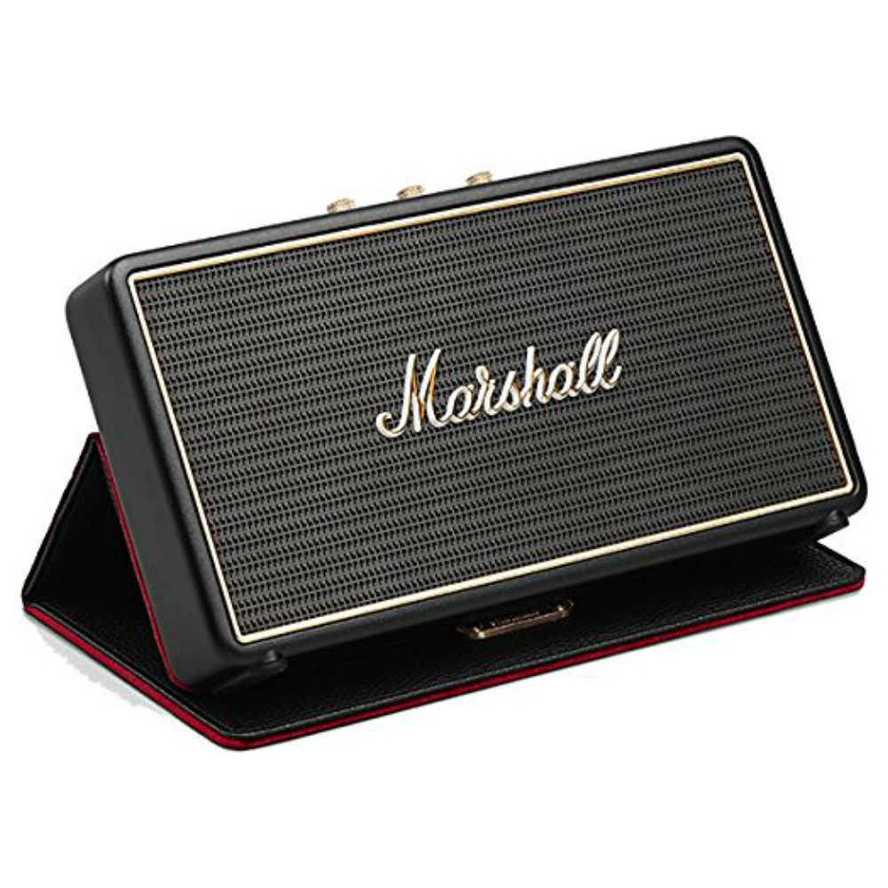 Marshall Stockwell Portable Bluetooth Speaker With Flip Cover (Black)