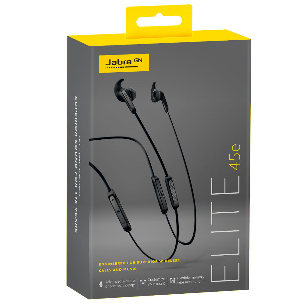 Jabra Elite 45e Wireless Earphones (Titanium Black)