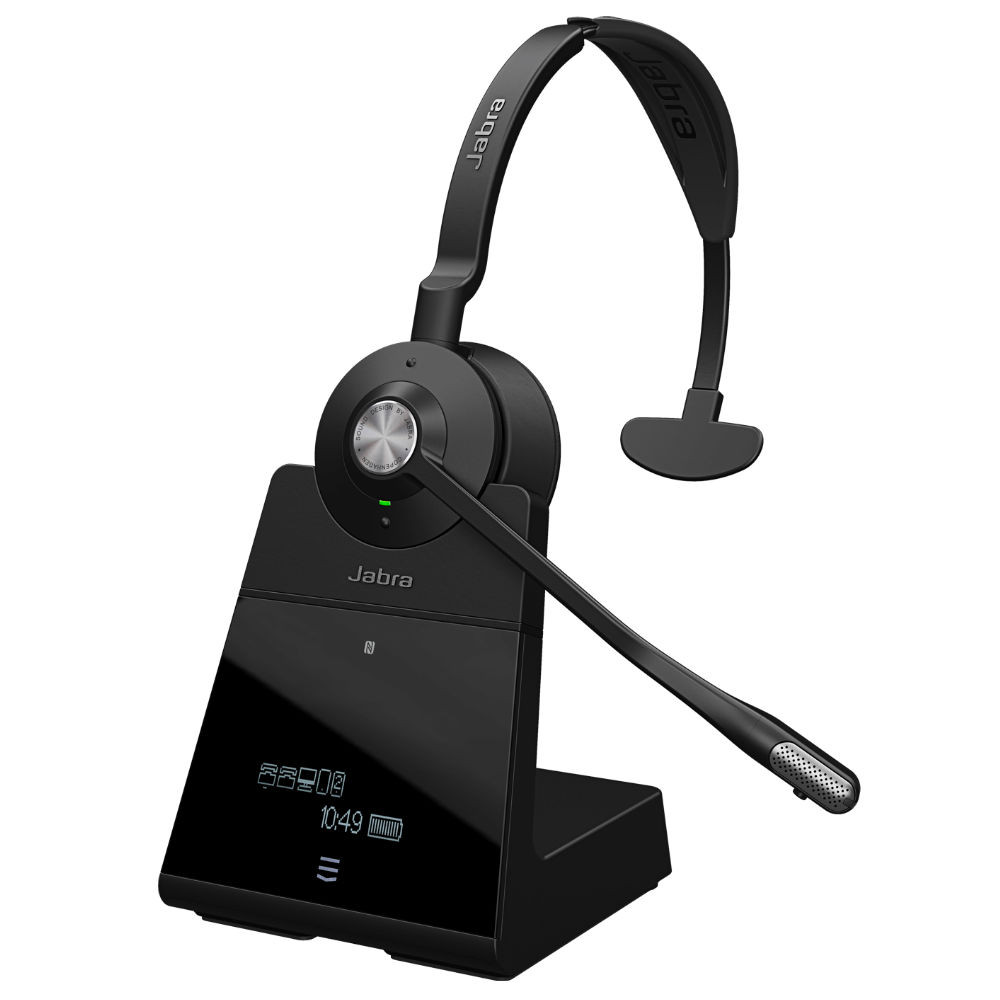 Jabra Engage 75 Mono Wireless Noise Cancelling Headset With Charging Base (Black)