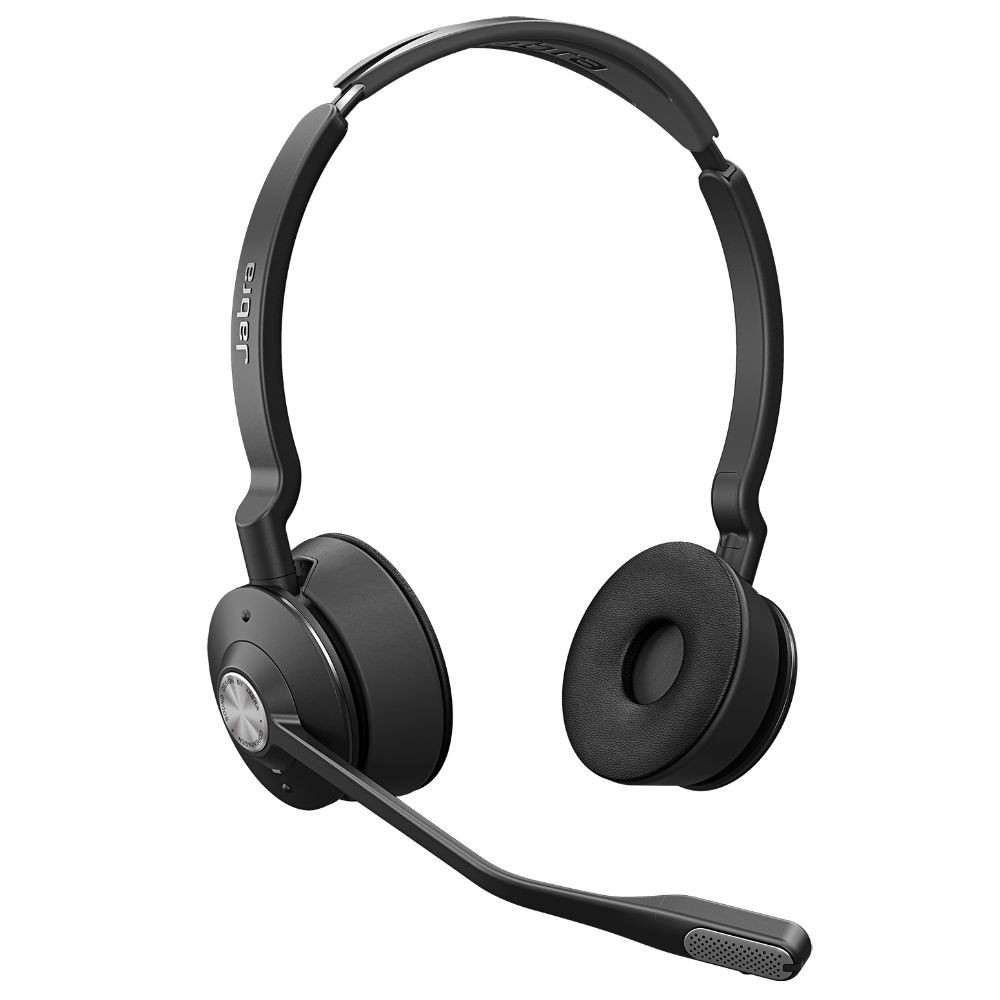 Jabra Engage 75 Stereo Wireless Noise Cancelling Headset With Charging Base (Black)