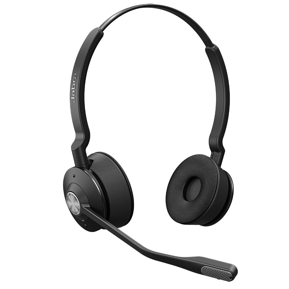 Jabra Engage 65 Stereo Wireless Noise Cancelling Headset With Charging Base (Black)