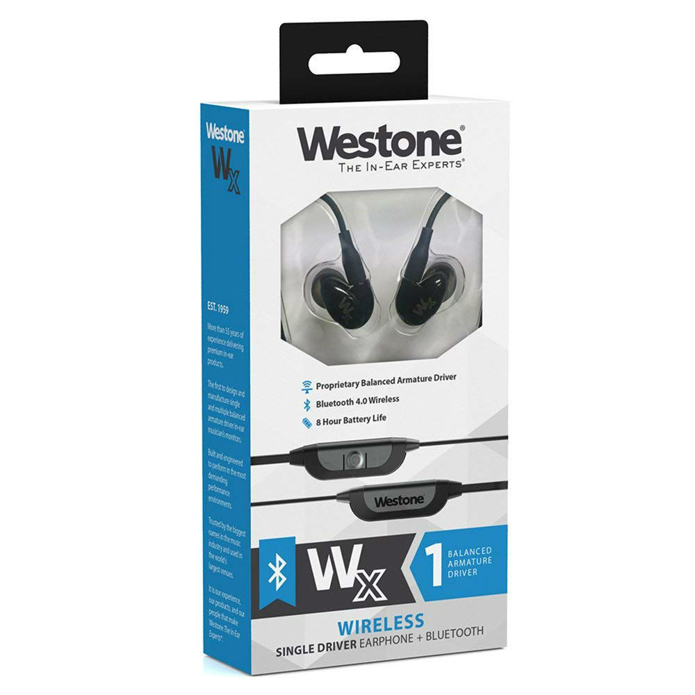 Westone WX Wireless Single Driver Bluetooth In-Ear Monitors (Black)