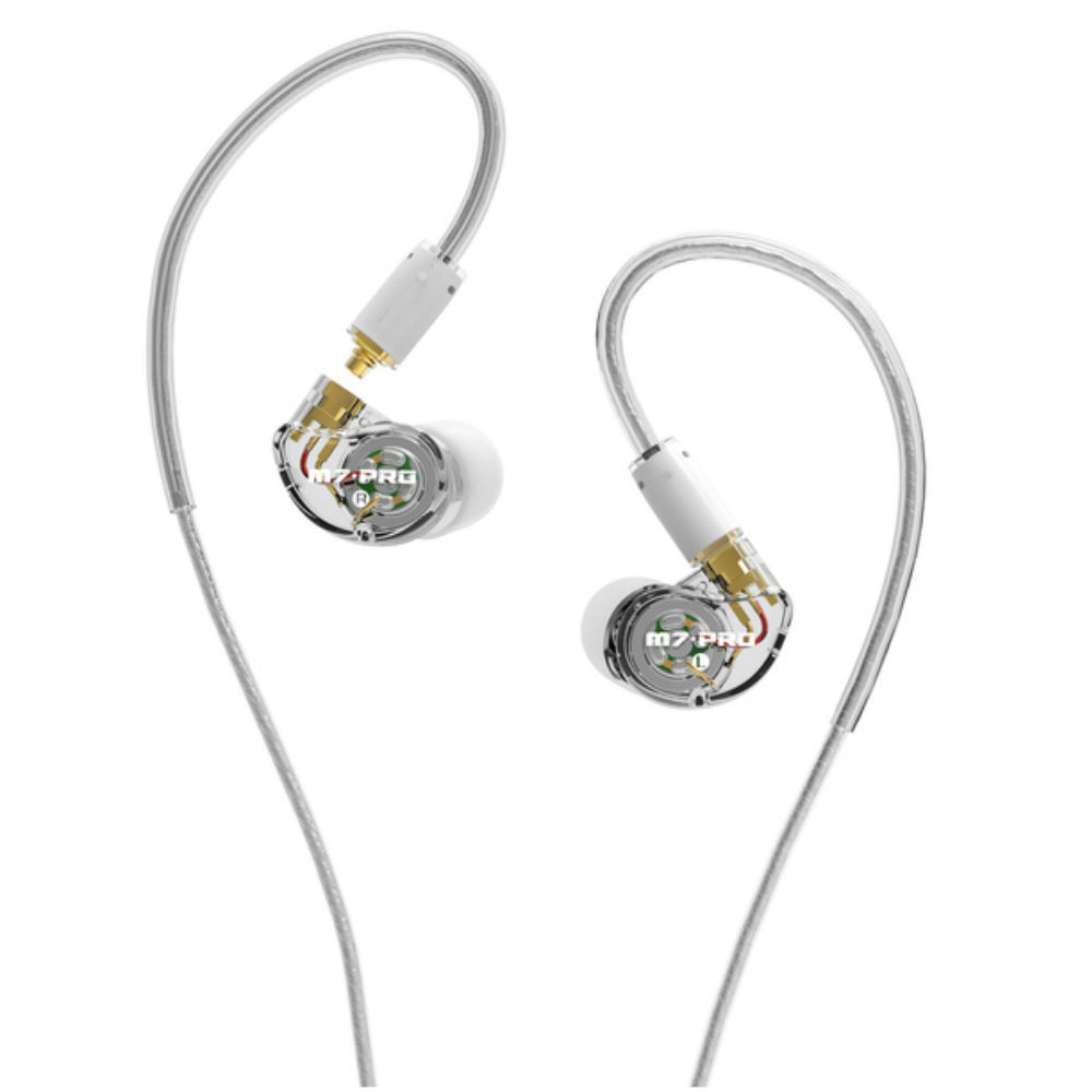 Mee Audio M7 Pro Hybrid Dual Driver In-Ear Monitors (Clear)