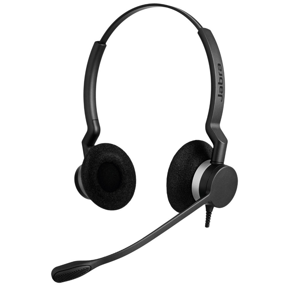 Jabra Biz 2300 MS Duo QD Quick Disconnect Headset (Black)