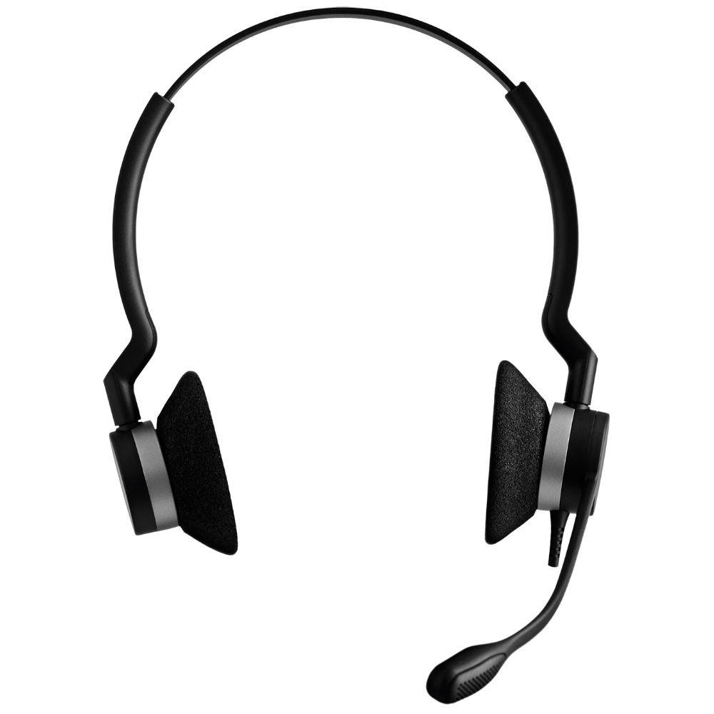 Jabra Biz 2300 MS Duo QD Quick Disconnect Headset (Black)