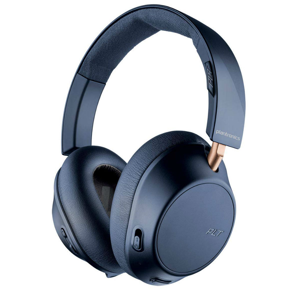 Plantronics BackBeat Go 810 Wireless Active Noise Cancelling Headphones (Navy Blue)