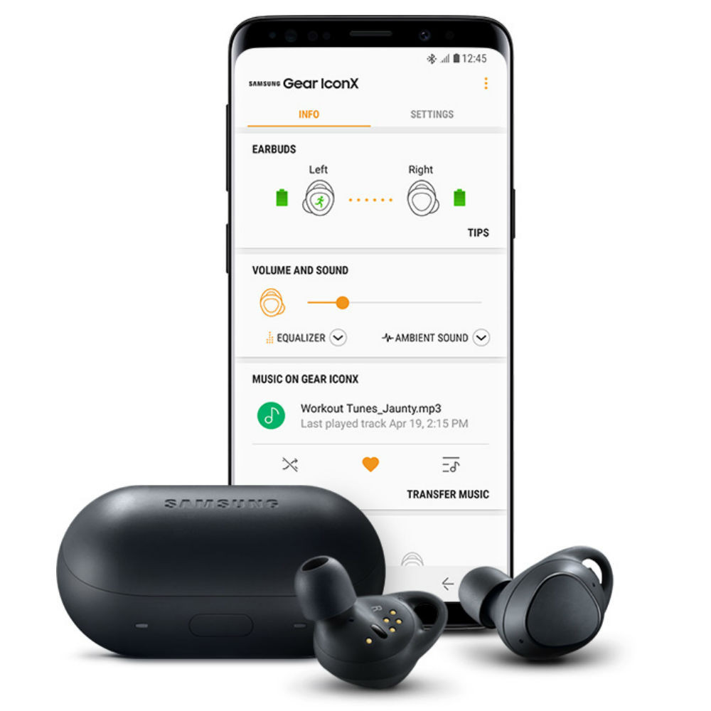 Samsung Gear IconX True Wireless Earbuds 2018 Edition (Gray)