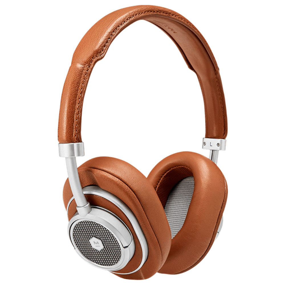 Master & Dynamic MW50+ 2-In-1 Wireless On-Ear & Over-Ear Headphones (Silver Metal / Brown Leather)