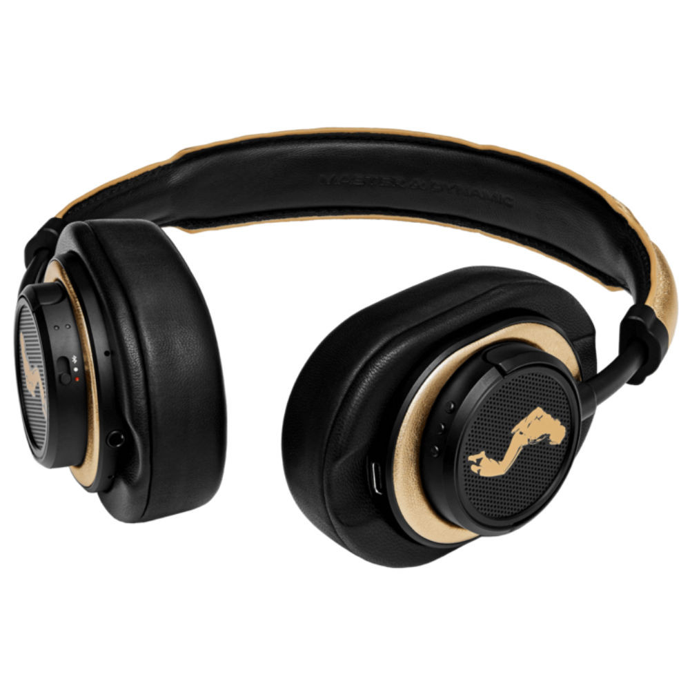 Master & Dynamic MW50+ 2-In-1 Wireless On-Ear & Over-Ear Headphones Michael Jackson Edition (Black Metal / Gold Leather)