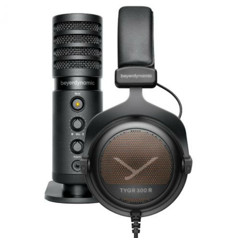 Beyerdynamic TYGR 300 R Gaming Headphones + FOX Professional USB Studio Microphone Bundle