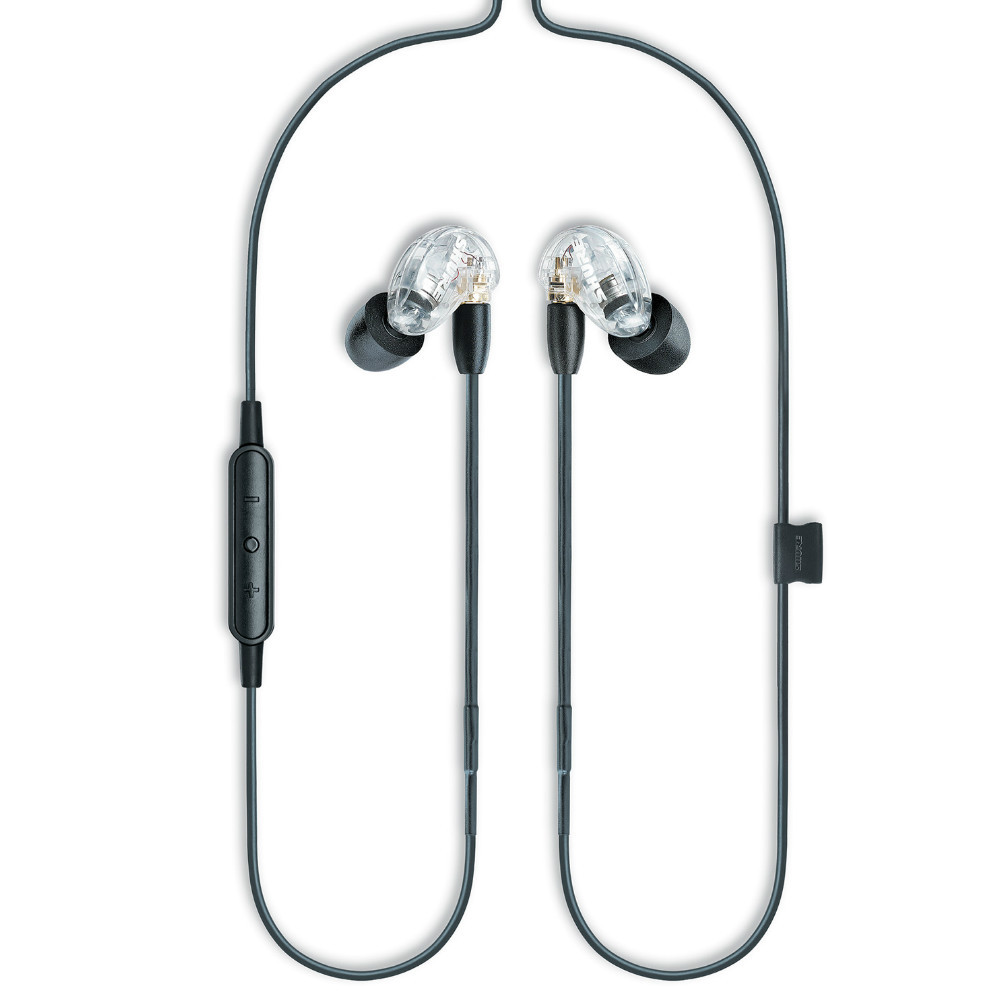 Shure SE215 Single Microdriver Sound Isolating Earphones With Universal Cable (Clear)
