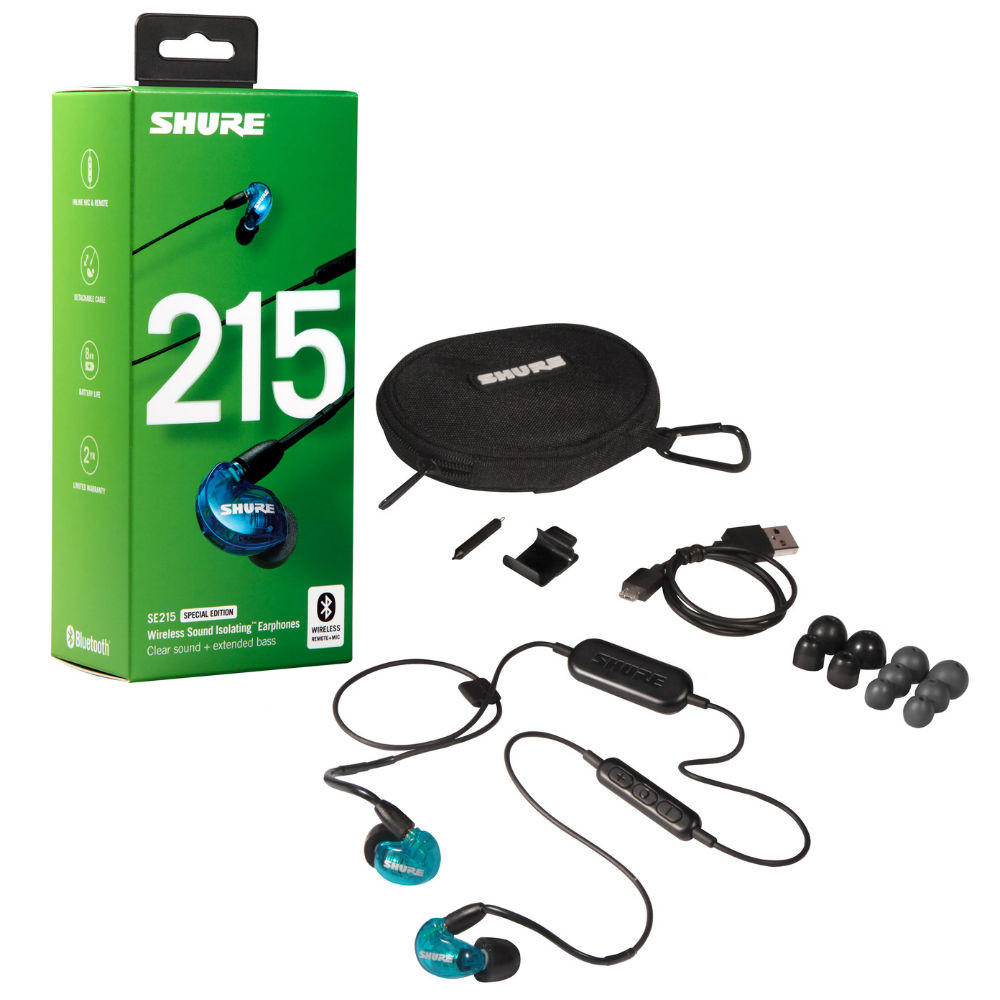 Shure SE215 Sound Isolating Wireless Earphones Special Edition SE215SPE-B-BT1 (Blue)