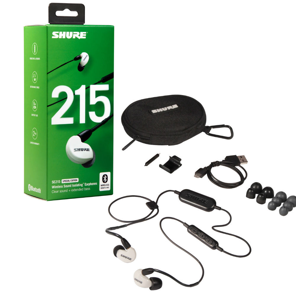 Shure SE215 Sound Isolating Wireless Earphones Special Edition SE215SPE-W-BT1 (White)