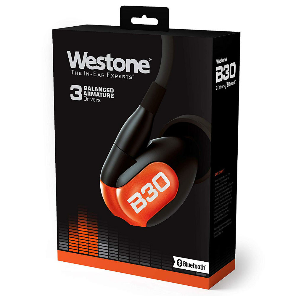 Westone B30 Three Balanced Armature Drivers In-Ear Headphones With Bluetooth Cable  + HD Silver MMCX Cable