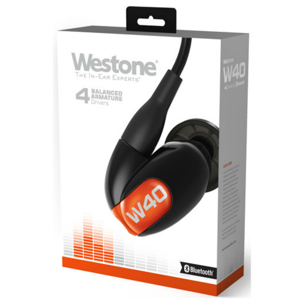 Westone W40 Four Driver True-Fit Earphones With Bluetooth Cable (2nd Gen)