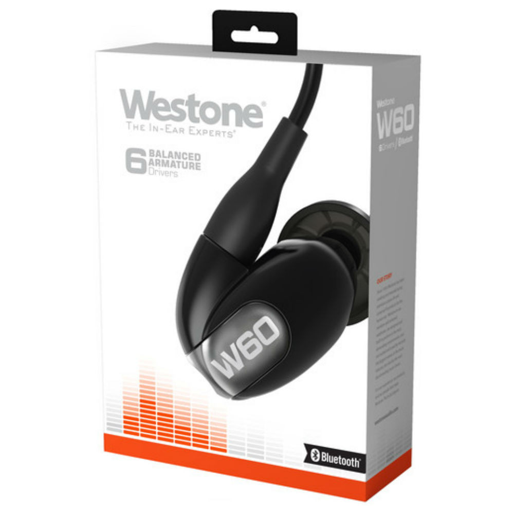 Westone W60 Six Driver True-Fit Earphones With Bluetooth Cable (2nd Gen)