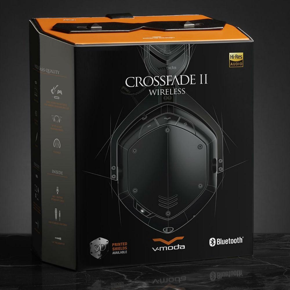 V-MODA Crossfade 2 Wireless Codex Edition Headphones (Matte Black)