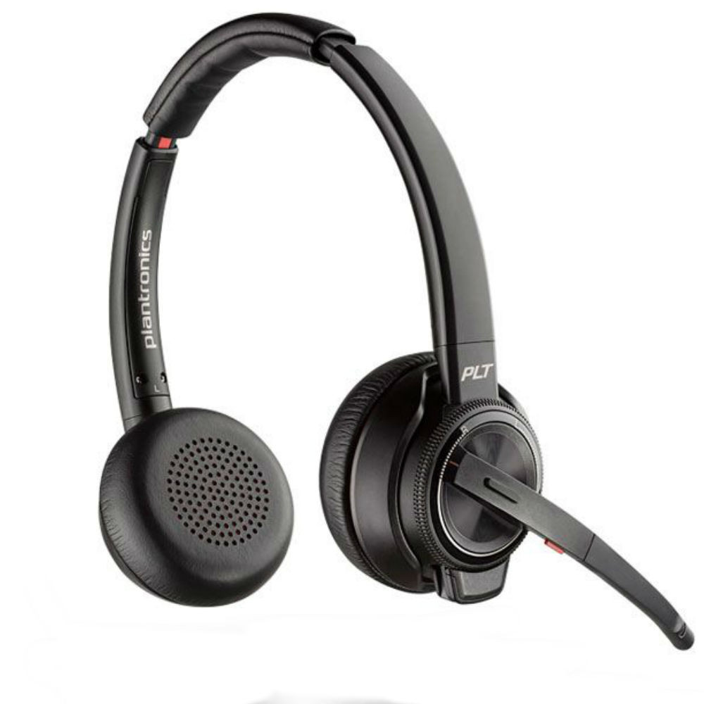 Plantronics Savi 8220-M Active Noise Cancelling Wireless DECT Stereo Headset System