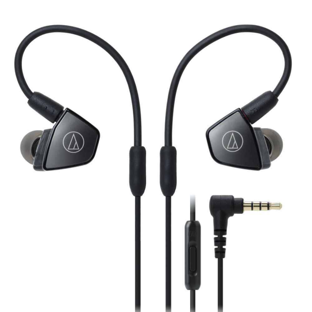 Audio-Technica ATH-LS300iS Triple Armature Driver In-Ear Headphones With In-line Mic & Control