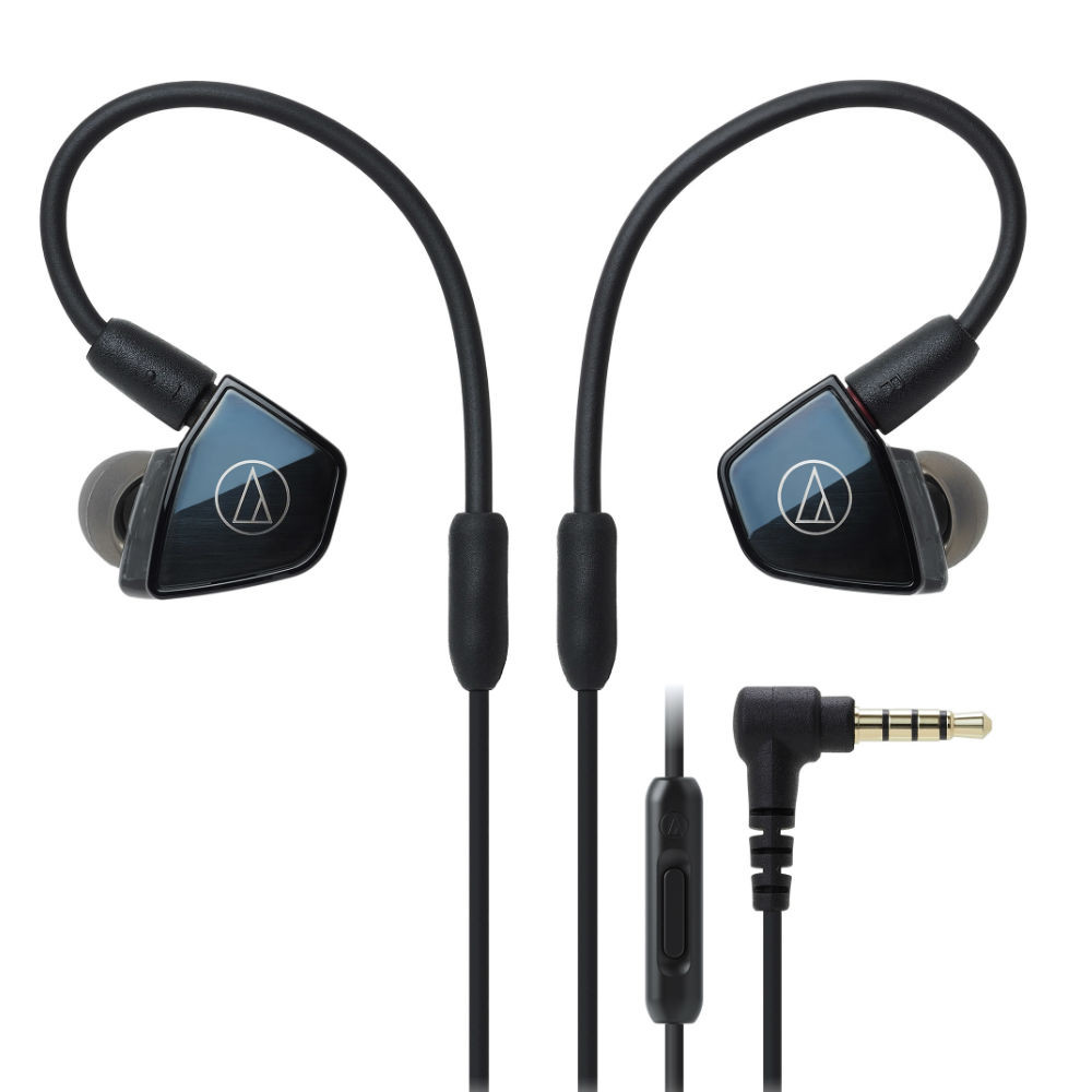 Audio-Technica ATH-LS400iS Quad Armature Driver In-Ear Headphones With In-line Mic & Control