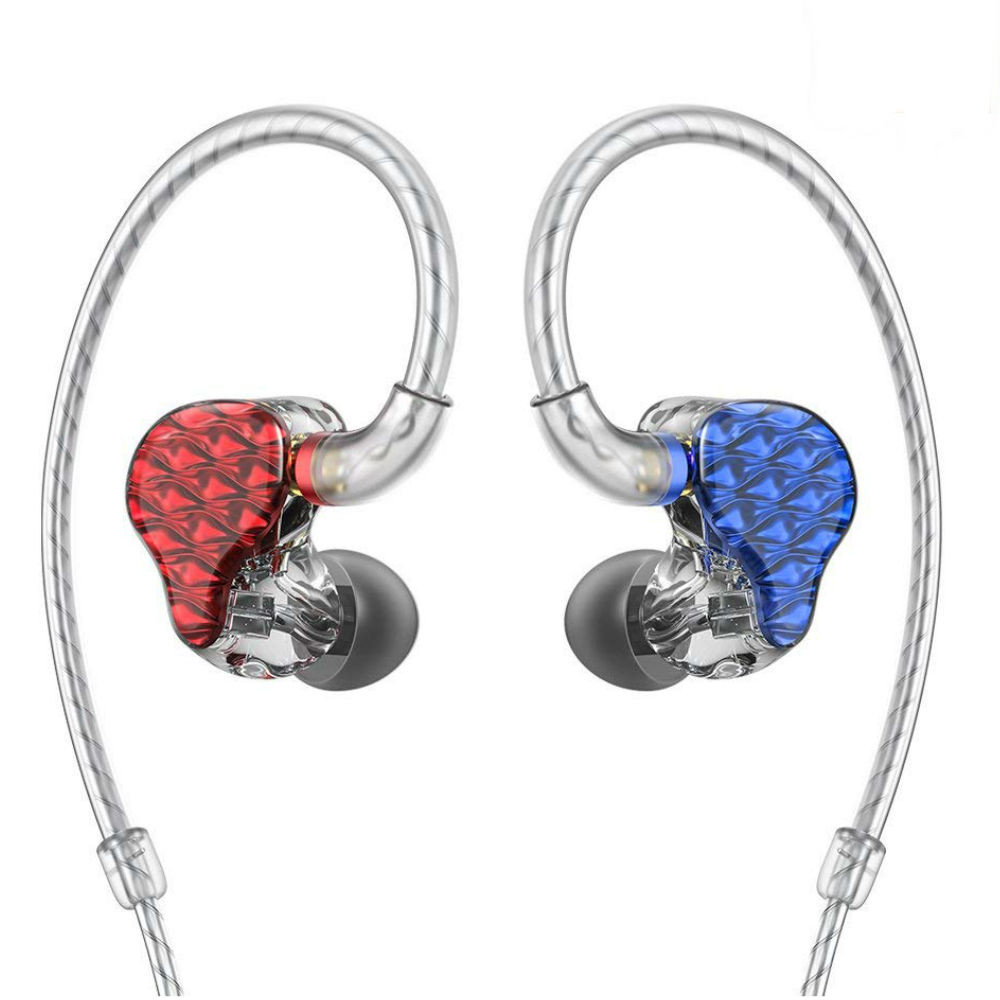 Fiio FA7 Quad Driver Balanced Armature In-Ear Monitors (Blue/Red)
