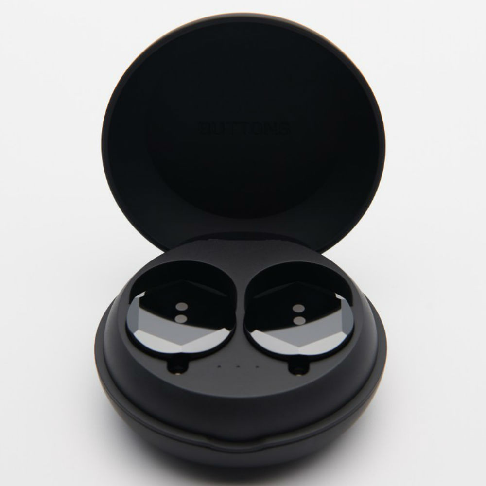 Buttons Air Hex True Wireless Earbuds With Charging Case (Black)