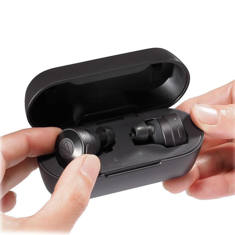 Audio-Technica ATH-CKS5TW Solid Bass True Wireless In-Ear Headphones (Black)